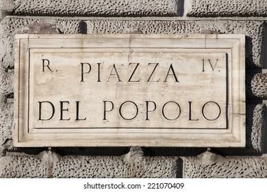 Popolo Square in Rome, Italy