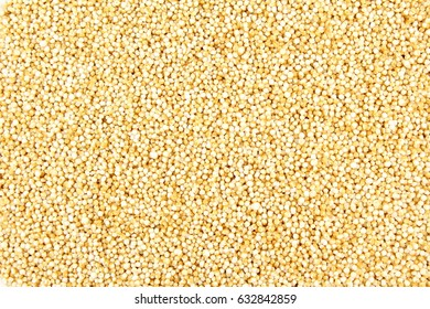 popped amaranth grain closeup as a food background texture