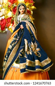 Poppet Indian women poppet wearing saree in indian style