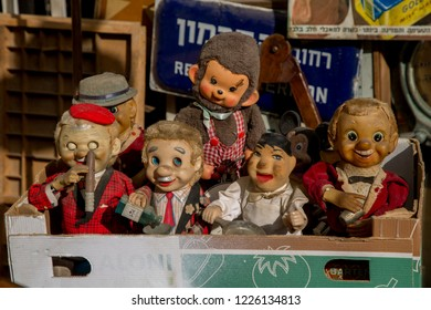 Poppets on the market in old Jaffa