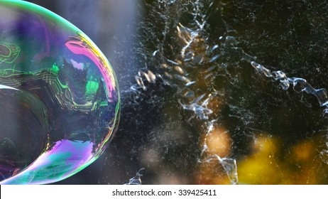 Popping bubble.