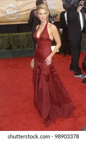 POPPY MONTGOMERY at the 10th Annual Screen Actors Guild Awards in Los Angeles. February 22, 2004