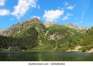 Poprad lake (Popradske pleso) in High Tatras (Vysoke Tatry) national park, Slovakia