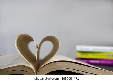 Poprad/ Slovakia- 4.6.2020: Heart from pages of book.