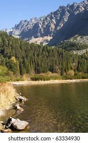 Popradske pleso in High Tatras, Slovakia