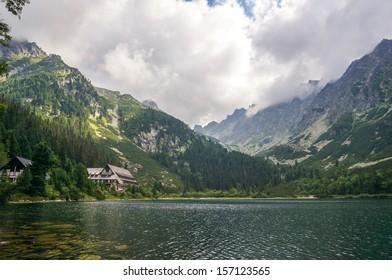 Popradske Pleso mountain lake, National Park High Tatra (Vysoke Tatry), Slovakia