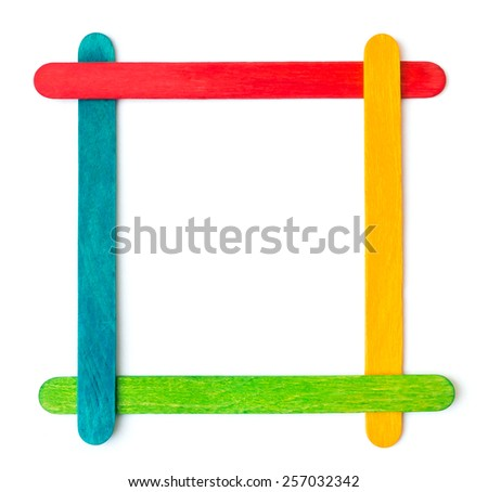 Popsicle Sticks Arranged Frame Formation Isolated Stock Photo (Edit ...