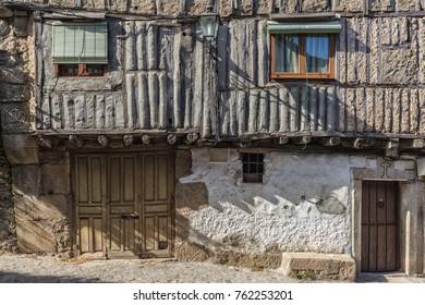 Popular architecture in the historic village of La Alberca. Salamanca. Spain.