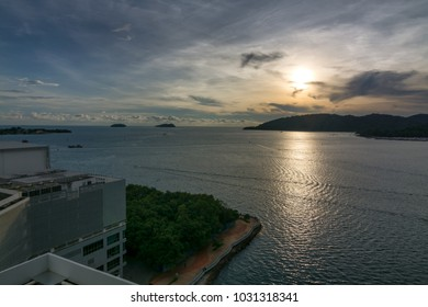 Popular bar with view of Gaya island in Kota Kinabalu