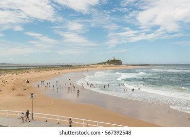 Popular Beach in Newcastle, NSW, Australia.
