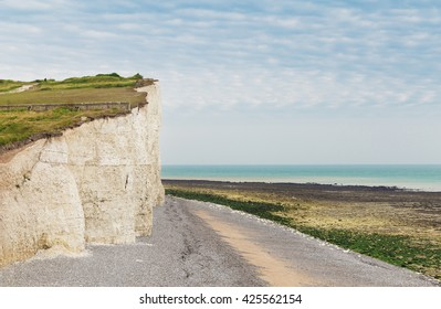 Popular Birling Gap white cliff Atlantic ocean coast, Sussex, England, United Kingdom