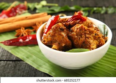 Popular chicken chettinad -South Indian cuisine.