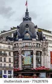 Popular Department store of the Town hall. FRANCE - Paris December 5th, 2017