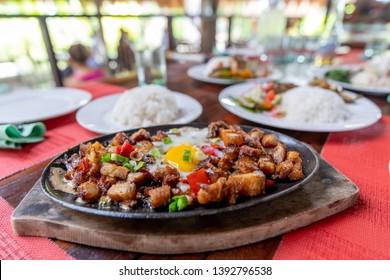Popular Filipion dish - pork sisig, Philippines