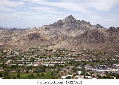 Popular hiking and recreation area called Piestewa Peak in Phoenix, Arizona