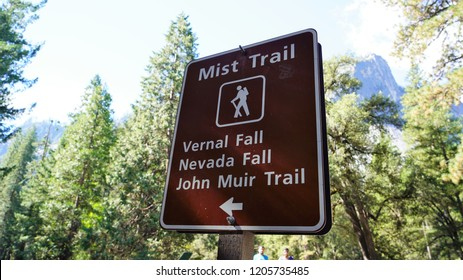 Popular hiking trails in Yosemite Valley National Park.
