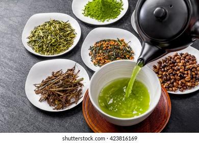 Popular Japanese green tea