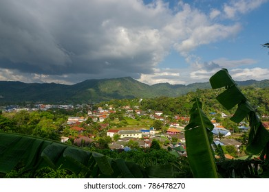 A popular Kamala valley seen from the hill in Phuket Thailand