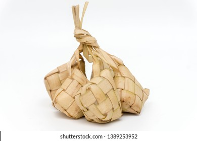 Popular Malay traditional Ramadan food, Ketupat rice or Ketupat Palas. Favorite food for breaking fast, eaten with beef or chicken rendang and serunding.