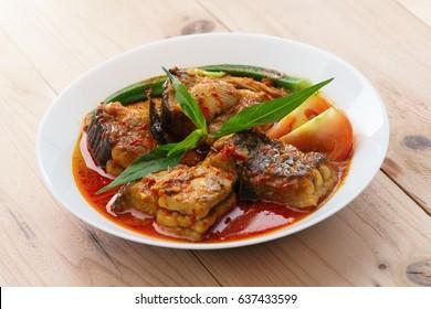 "Popular Malaysian Dish ""asam pedas"""