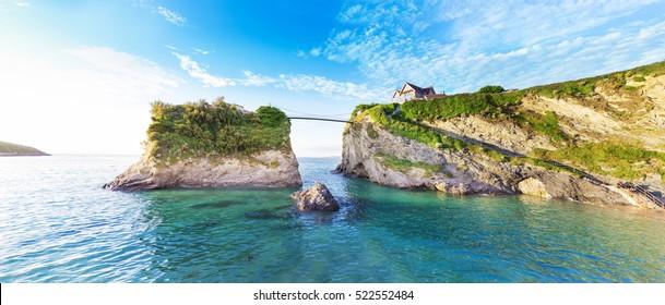 Popular Newquay Atlantic ocean coast, Cornwall, England, United Kingdom
