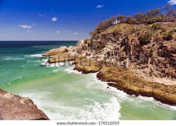 Popular North Gorge near Point Lookout on Stradbroke Island, Australia
