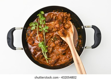 Popular North Indian food spicy korma chicken / masala chicken curry / chicken roast. side dish for roti  / chapathi / chapati / naan / paratha / rice.