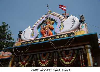 Popular pilgrims for hanuman devotee Hindu God Shree Bhurakhiya Hanumanji Temple Lord Hanuman is the son of Vayu, the Hindu god of Wind. Bhurakhiya; Lathi; Amreli district; Gujarat; India- Oct. 2017