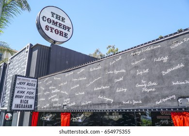 A popular place for Comedians in Los Angeles - The Comedy Store - LOS ANGELES / CALIFORNIA - APRIL 20, 2017