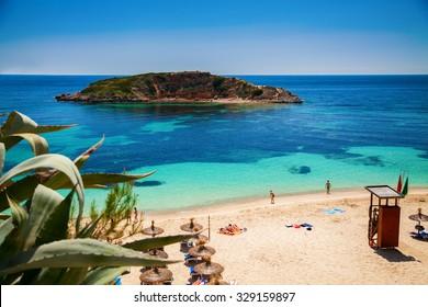 popular Portals Nous (Playa Oratorio) beach in Mallorca, Spain