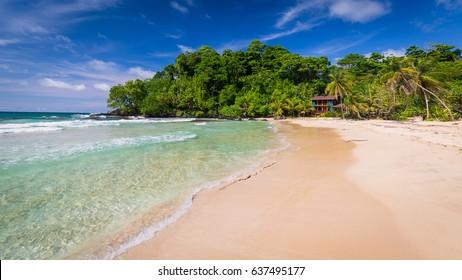 The popular Red frog beach on Basimentos Island, Bocas del Toro, Panama.