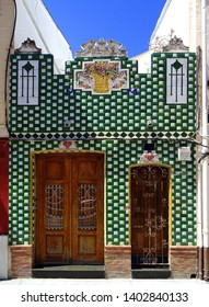 Popular revival house in Cabanyal Quarter in the city of Valencia. Spain
