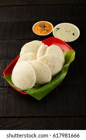 Popular South Indian all time food idli and sambar