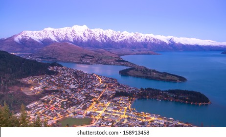 Popular spectacular view of Queenstown in New Zealand