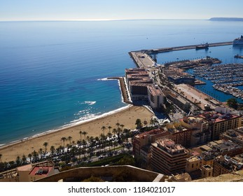 Popular summer European Mediterranean vacation destination famous Alicante Spain