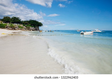The popular white sand Alona Beach located on Panglao Island, Bohol, Philippines