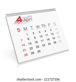 Pop-up Calendar April 2013