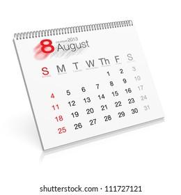 Pop-up Calendar August 2013