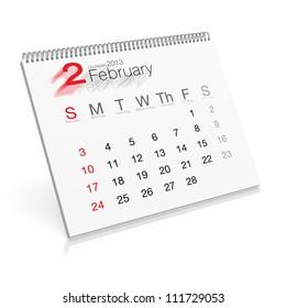 Pop-up Calendar February 2013