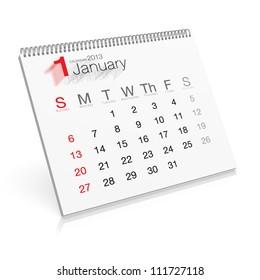 Pop-up Calendar January 2013