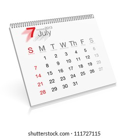 Pop-up Calendar July 2013