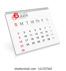 Pop-up Calendar June 2013