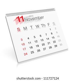 Pop-up Calendar November 2013