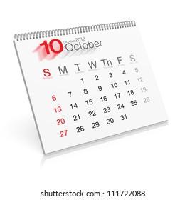 Pop-up Calendar October 2013