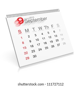 Pop-up Calendar September 2013
