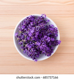 Porcelain bowl with lavender blossoms