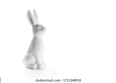 Porcelain bunny on a white background