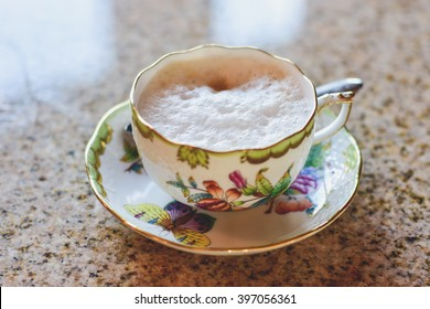 Porcelain coffee cup.