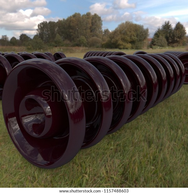 Porcelain Insulator Disc Type Stock Photo (Edit Now) 1157488603