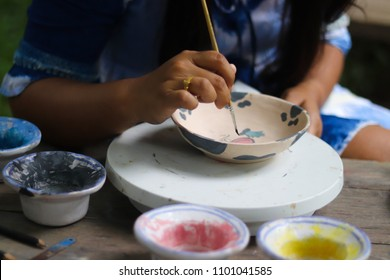 Porcelain Painting on Plate